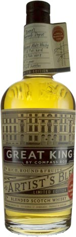 Compass Box Great King Street Marrying Cask #1 Finished 1 year in ex Highland Malt Butt Binny's Handpicked