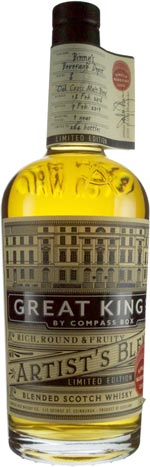 Compass Box Great King Street Marrying Cask #8 Finished in ex Oak Cross Malt Blend Cask for 1 year Binny's Handpicked