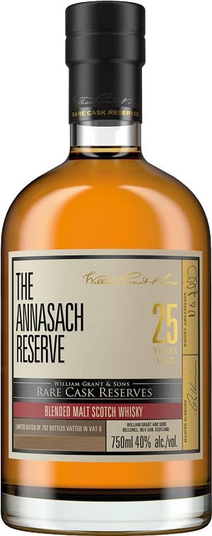 The Annasach Reserve 25 year old Blended Malt Binny's Select Wm Grants