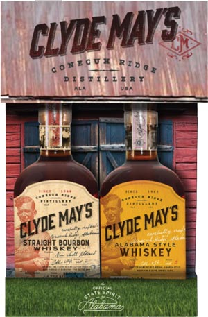 ARRIVING FRIDAY - Clyde May's Conecuh Ridge Distillery 2 Bottle Co Pack with Alabama Style Whiskey and Straight Bourbon