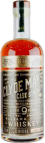 Clyde May's Cask Strength Aged 9 Years Alabama Style Whiskey