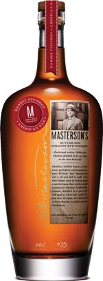 Masterson's 10 year old Straight Rye Whisky American Oak Finished