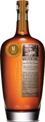 Masterson's 10 year old Straight Rye Whisky French Oak Finished