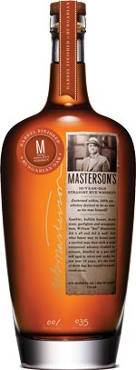 Masterson's 10 year old Straight Rye Whisky Hungarian Oak Finish