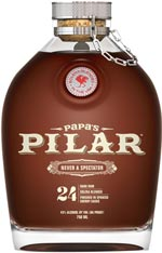 Papa's Pilar 24 Dark Rum Finished an Additional 120 Days Binny's Handpicked