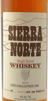 Sierra Norte Single Barrel Whiskey made with Native Oaxacan White Corn