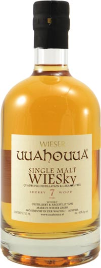 Wieser Wachau 7 year old Single Malt aged in Sherry Cask